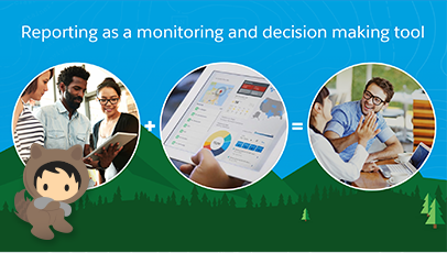 Reporting as a monitoring and decision making tool