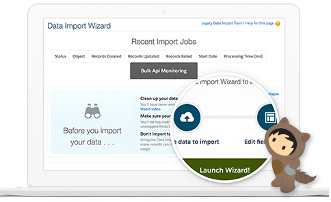 Sales Cloud Dashboard For Data Import Wizard