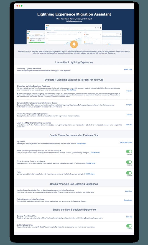 Salesforce Lightning Engage - Dashboard screens